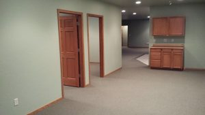 Belgrade Commercial Office Condos for Sale - 1600 SF Office Spaces with Conference Room, private offices, full kitchen and full bathrooms with shower and tub.