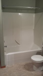 Full Bath with Shower and Tub in Airport Plaza Commercial Condos, just north of Yellowstone International Airport